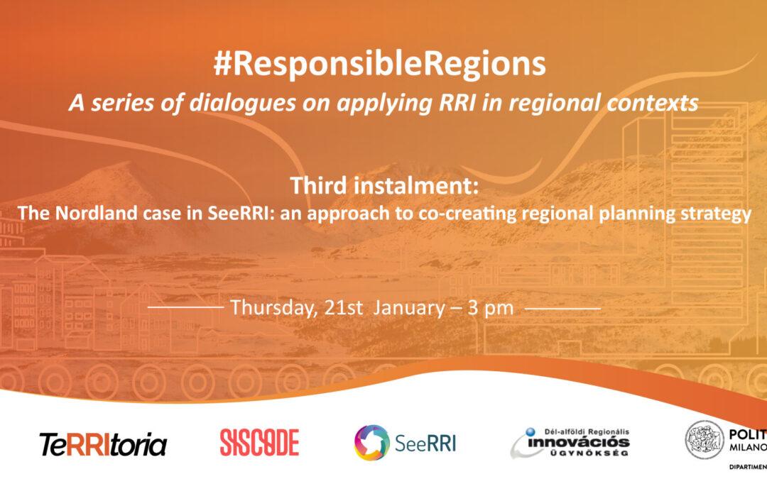 SeeRRI at #ResponsibleRegions – third dialogue